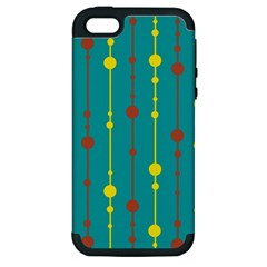 Green, yellow and red pattern Apple iPhone 5 Hardshell Case (PC+Silicone)