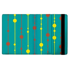 Green, yellow and red pattern Apple iPad 3/4 Flip Case