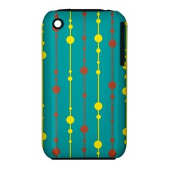Green, yellow and red pattern Apple iPhone 3G/3GS Hardshell Case (PC+Silicone)