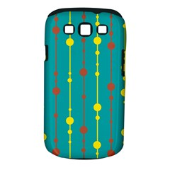 Green, yellow and red pattern Samsung Galaxy S III Classic Hardshell Case (PC+Silicone)