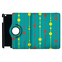 Green, yellow and red pattern Apple iPad 3/4 Flip 360 Case