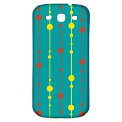 Green, yellow and red pattern Samsung Galaxy S3 S III Classic Hardshell Back Case