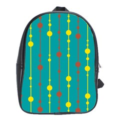 Green, yellow and red pattern School Bags (XL)