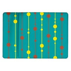 Green, yellow and red pattern Samsung Galaxy Tab 10.1  P7500 Flip Case
