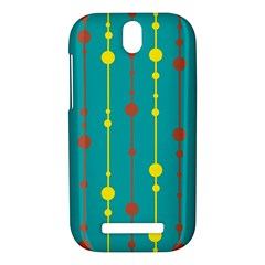 Green, yellow and red pattern HTC One SV Hardshell Case