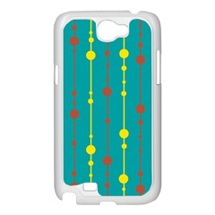 Green, yellow and red pattern Samsung Galaxy Note 2 Case (White)