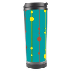 Green, yellow and red pattern Travel Tumbler