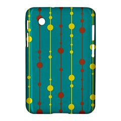 Green, yellow and red pattern Samsung Galaxy Tab 2 (7 ) P3100 Hardshell Case