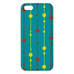 Green, yellow and red pattern iPhone 5S/ SE Premium Hardshell Case