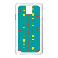 Green, yellow and red pattern Samsung Galaxy Note 3 N9005 Case (White)