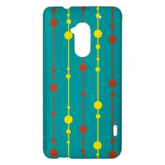 Green, yellow and red pattern HTC One Max (T6) Hardshell Case