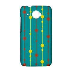 Green, yellow and red pattern HTC Desire 601 Hardshell Case