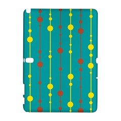 Green, yellow and red pattern Samsung Galaxy Note 10.1 (P600) Hardshell Case