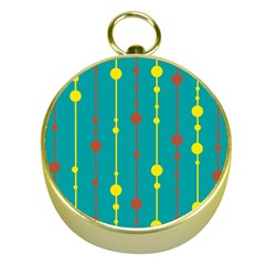 Green, yellow and red pattern Gold Compasses