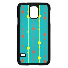 Green, yellow and red pattern Samsung Galaxy S5 Case (Black)