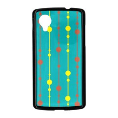 Green, yellow and red pattern Nexus 5 Case (Black)