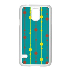 Green, yellow and red pattern Samsung Galaxy S5 Case (White)