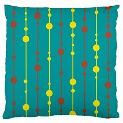 Green, yellow and red pattern Large Flano Cushion Case (Two Sides)