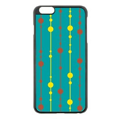 Green, yellow and red pattern Apple iPhone 6 Plus/6S Plus Black Enamel Case