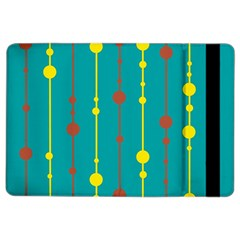 Green, yellow and red pattern iPad Air 2 Flip
