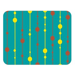 Green, yellow and red pattern Double Sided Flano Blanket (Large)