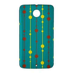 Green, yellow and red pattern Nexus 6 Case (White)