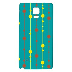 Green, yellow and red pattern Galaxy Note 4 Back Case