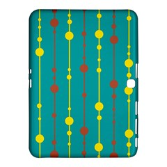 Green, yellow and red pattern Samsung Galaxy Tab 4 (10.1 ) Hardshell Case