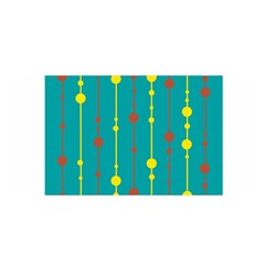 Green, yellow and red pattern Satin Wrap