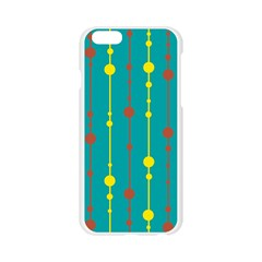 Green, yellow and red pattern Apple Seamless iPhone 6/6S Case (Transparent)