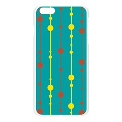 Green, yellow and red pattern Apple Seamless iPhone 6 Plus/6S Plus Case (Transparent)