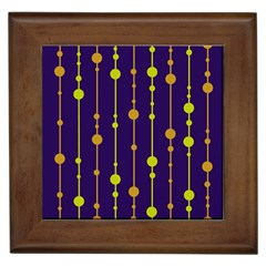 Deep blue, orange and yellow pattern Framed Tiles
