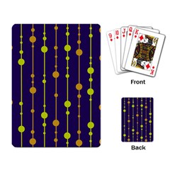 Deep blue, orange and yellow pattern Playing Card