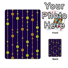 Deep blue, orange and yellow pattern Multi-purpose Cards (Rectangle)