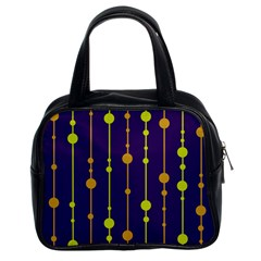 Deep blue, orange and yellow pattern Classic Handbags (2 Sides)