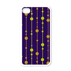 Deep blue, orange and yellow pattern Apple iPhone 4 Case (White)
