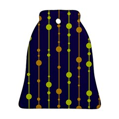 Deep blue, orange and yellow pattern Bell Ornament (2 Sides)