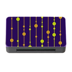 Deep blue, orange and yellow pattern Memory Card Reader with CF