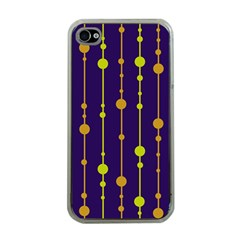 Deep blue, orange and yellow pattern Apple iPhone 4 Case (Clear)