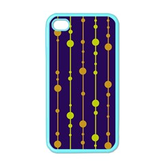 Deep blue, orange and yellow pattern Apple iPhone 4 Case (Color)