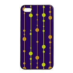 Deep blue, orange and yellow pattern Apple iPhone 4/4s Seamless Case (Black)