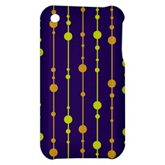 Deep blue, orange and yellow pattern Apple iPhone 3G/3GS Hardshell Case