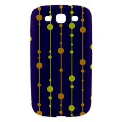 Deep blue, orange and yellow pattern Samsung Galaxy S III Hardshell Case