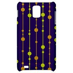 Deep blue, orange and yellow pattern Samsung Infuse 4G Hardshell Case
