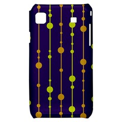 Deep blue, orange and yellow pattern Samsung Galaxy S i9000 Hardshell Case