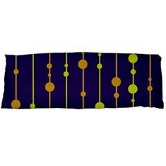 Deep blue, orange and yellow pattern Body Pillow Case Dakimakura (Two Sides)