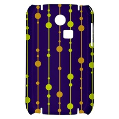 Deep blue, orange and yellow pattern Samsung S3350 Hardshell Case