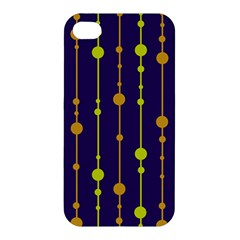 Deep blue, orange and yellow pattern Apple iPhone 4/4S Premium Hardshell Case