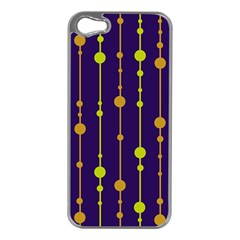 Deep blue, orange and yellow pattern Apple iPhone 5 Case (Silver)