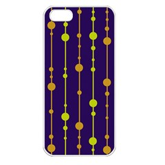 Deep blue, orange and yellow pattern Apple iPhone 5 Seamless Case (White)
